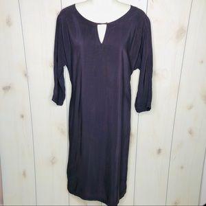 Humanoid Plum Purple Shirt Shift Dress
